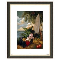 Image of Mickey Mouse and Pluto ''Sundown Surfer Mickey Mouse'' Giclée by Darren Wilson # 3