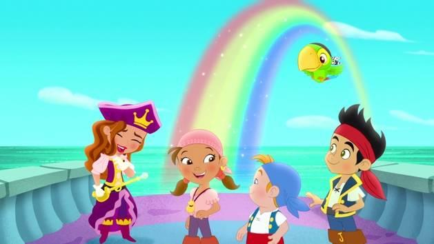 Jake et les Pirates du Pays Imaginaire - Clip - Chanson du trésor de l'arc-en-ciel