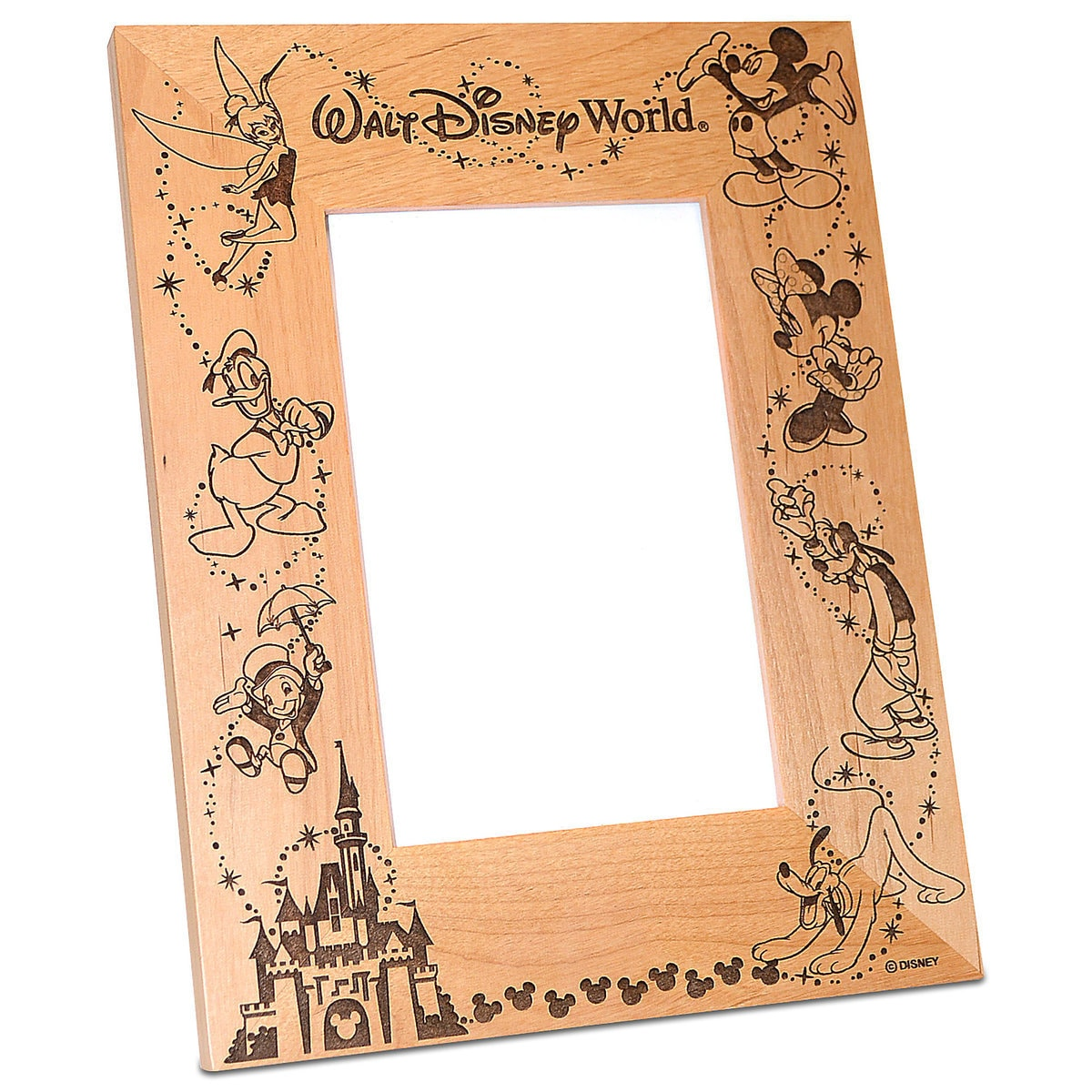 walt disney world cinderella castle photo frame by arribas personalizable - Disney Picture Frames