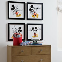 Mickey Mouse ''Mickey Shorts IV'' Framed Giclée on Archival Paper by Ethan Allen