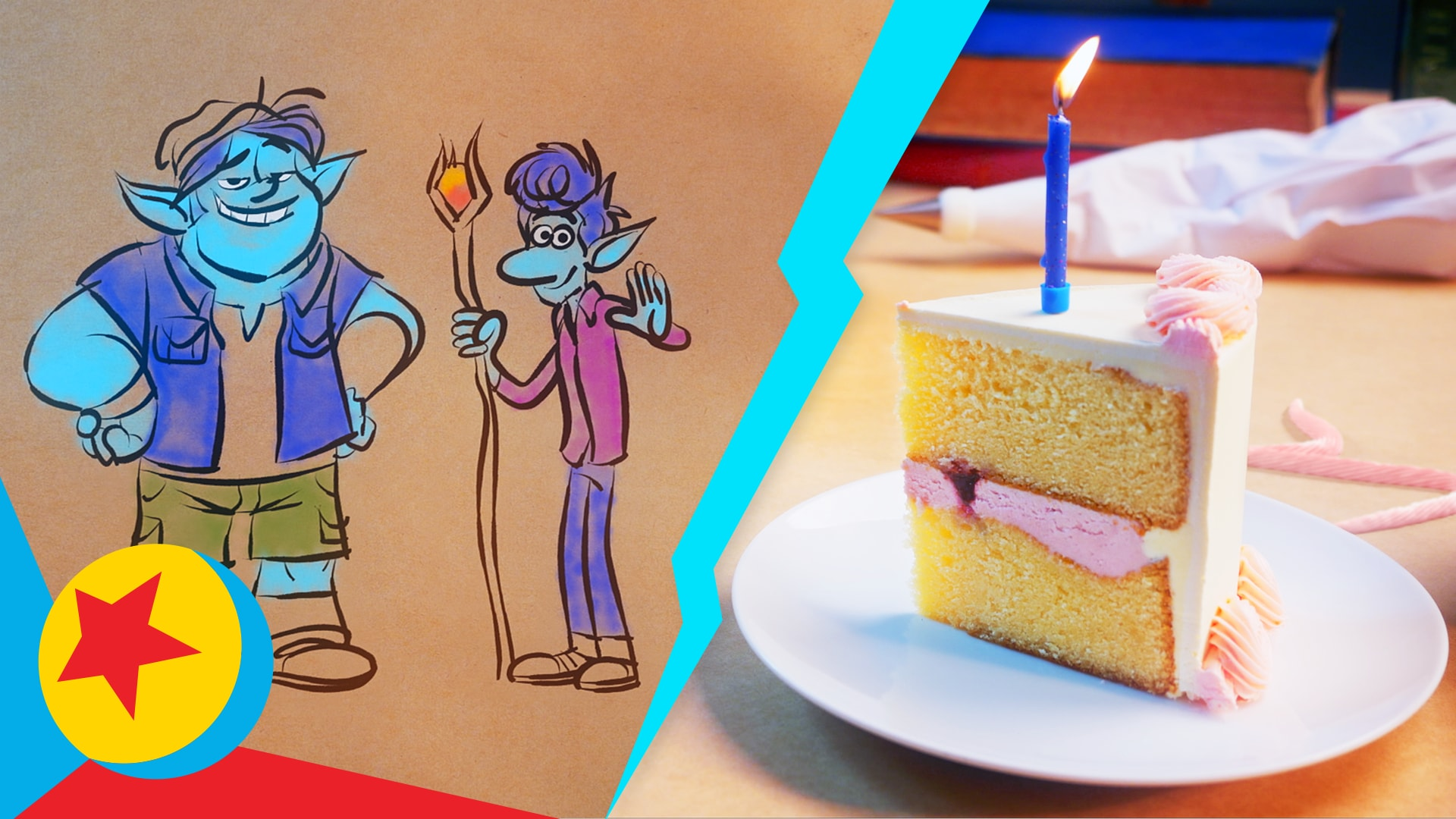 Ian and Barley from Onward Make Birthday Cake | Cooking With Pixar