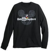 Mickey Mouse with Walt Disney World Logo Long Sleeve Tee for Adults - Black