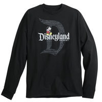 Mickey Mouse with Disneyland Logo Long Sleeve Tee for Adults - Black