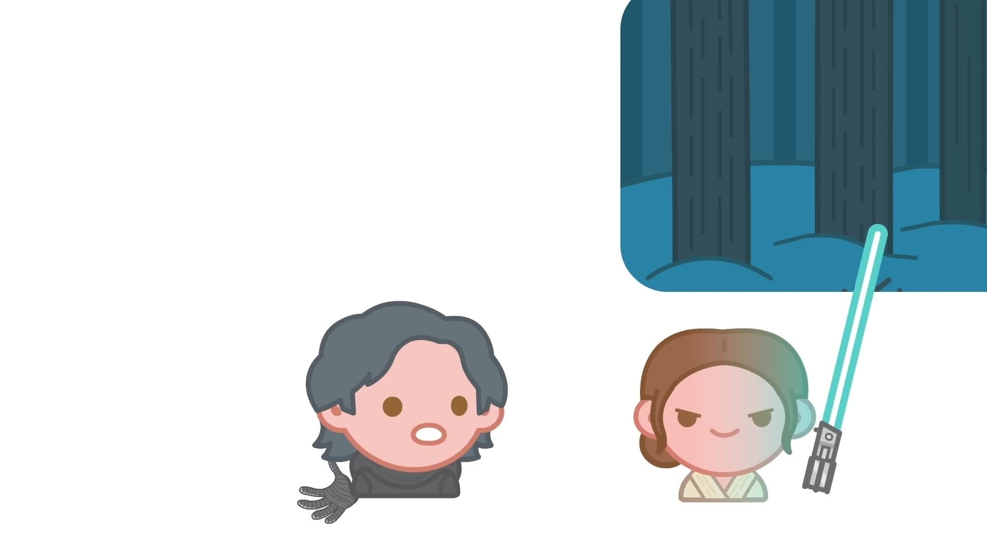 Berättad med emoji: The Force Awakens