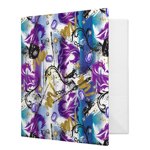 Descendants 2 Mal Two Headed Dragon Pattern Binder