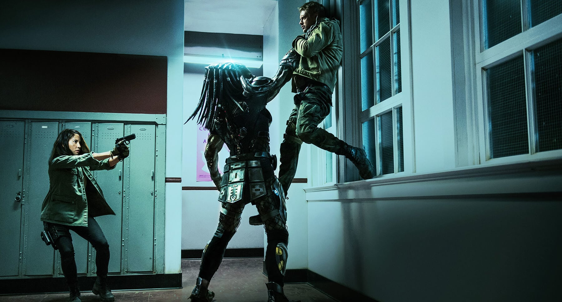 "Olivia Munn and Boyd Holbrook in ""The Predator"""