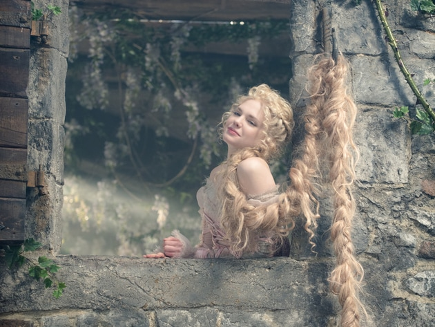 "MacKenzie Mauzy stars as Rapunzel in ""Into the Woods,"" a modern twist on beloved fairy tales. Bas..."