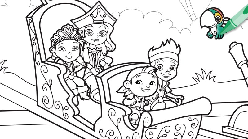 Disney Junior Coloring Pages Jake Murderthestout Jake And The Neverland Coloring Pages To Print