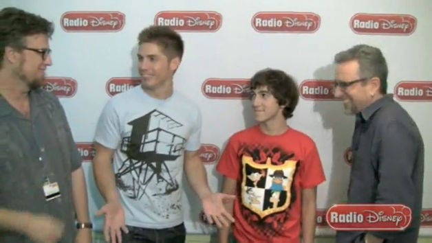 The Cast of Phineas and Ferb - Celebrity Take with Jake