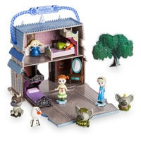 Image of Disney Animators' Collection Littles Frozen Micro Doll Play Set - 2'' # 1