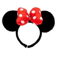 Image of Minnie Mouse Ear Headband - Plush # 1