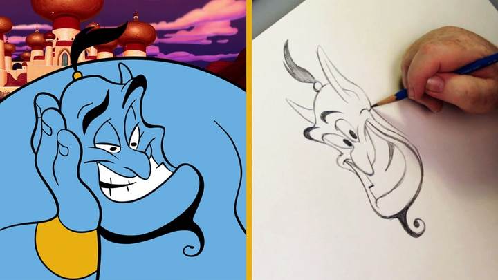 How to Draw Genie from Aladdin | Disney Insider