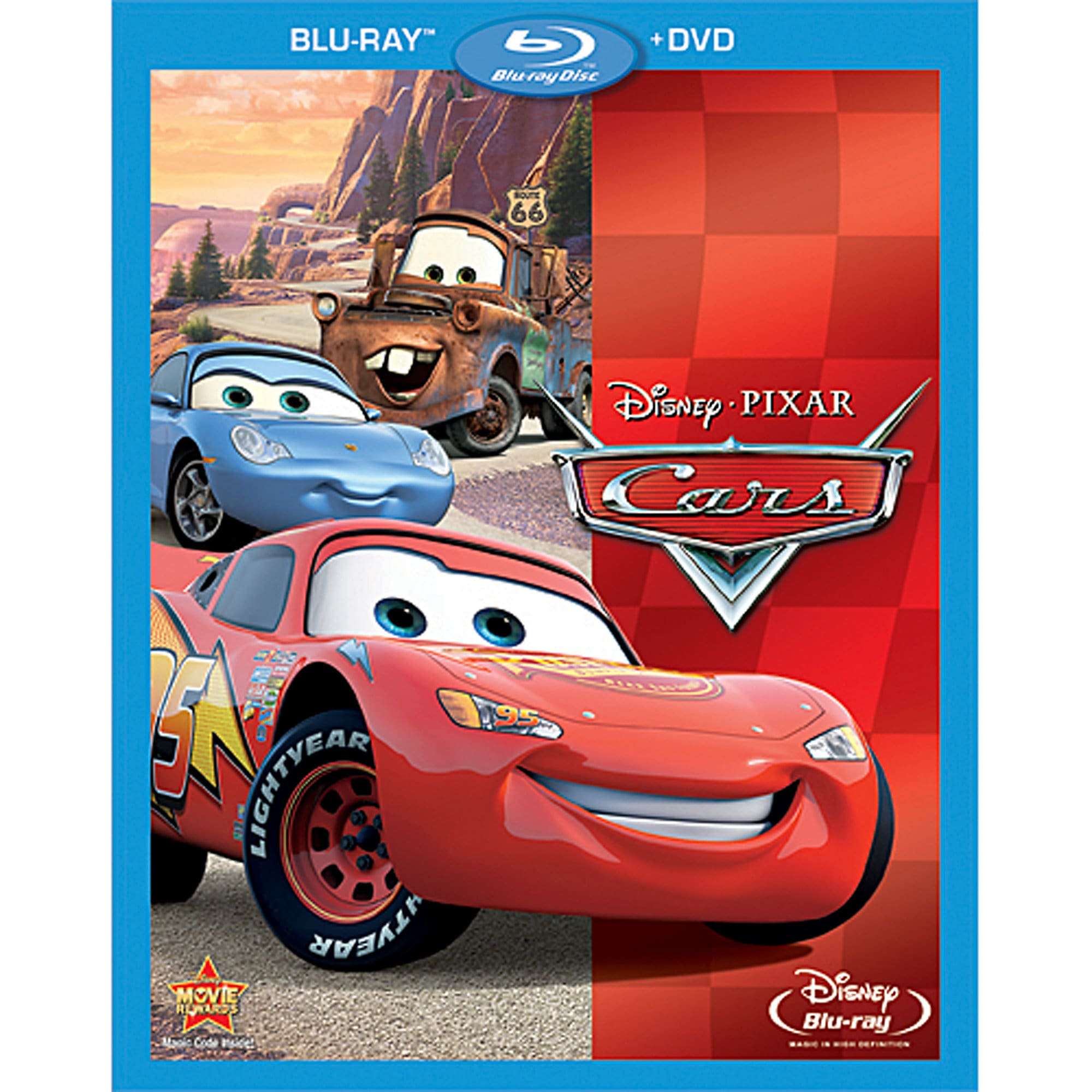 Cars Blu-ray and DVD Combo Pack