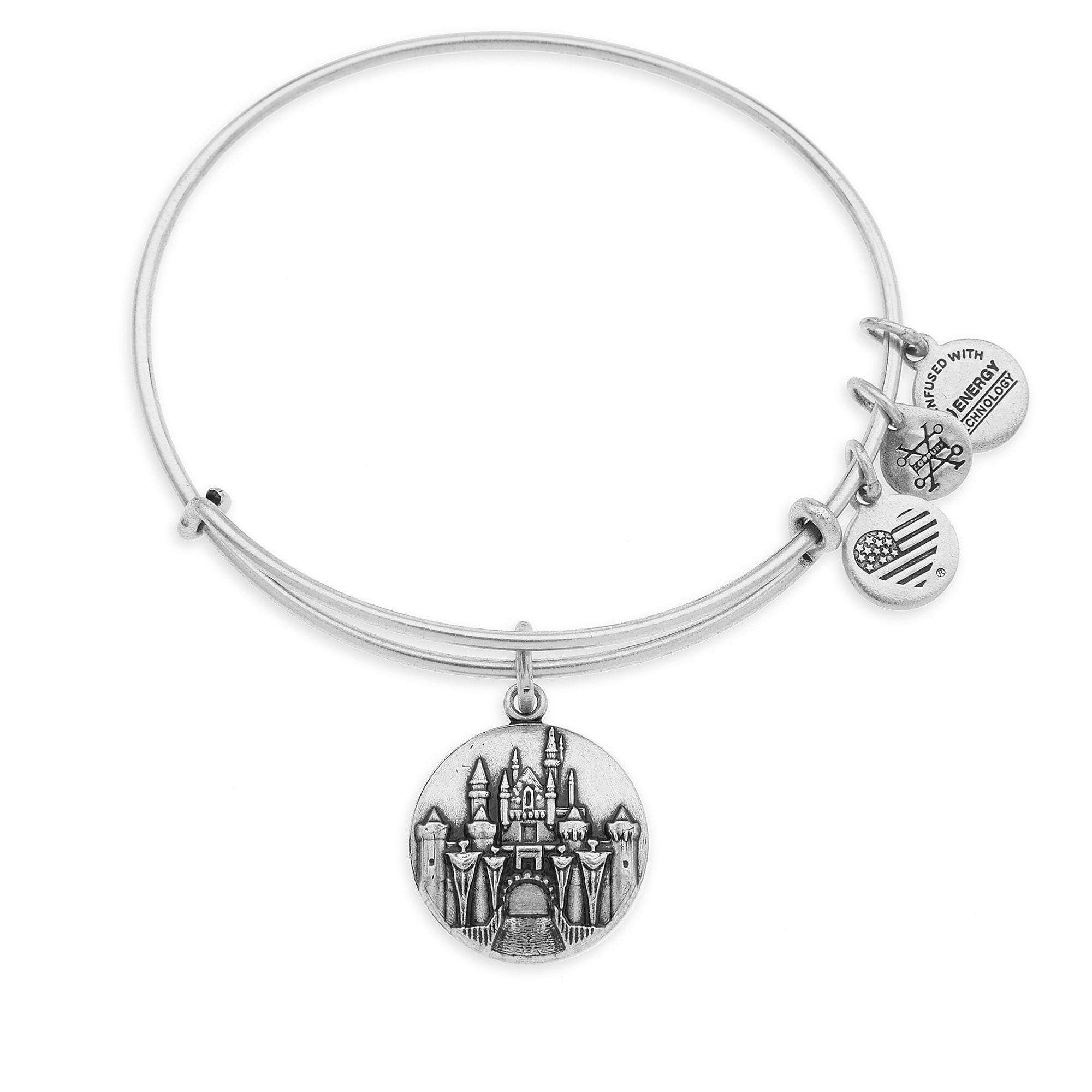 Sleeping Beauty Castle Bangle by Alex and Ani - Disneyland - Silver