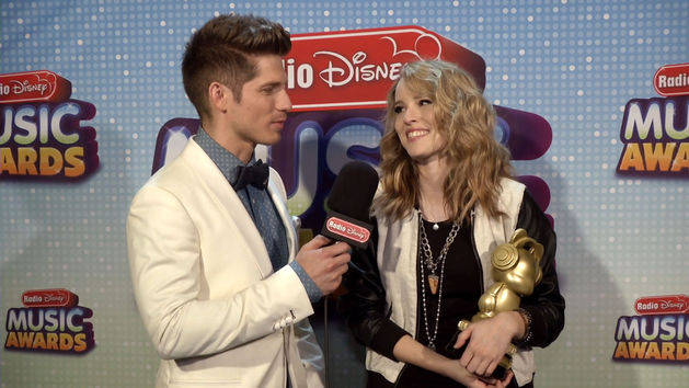 Bridgit Mendler in the Winners Circle at the Radio Disney Music Awards