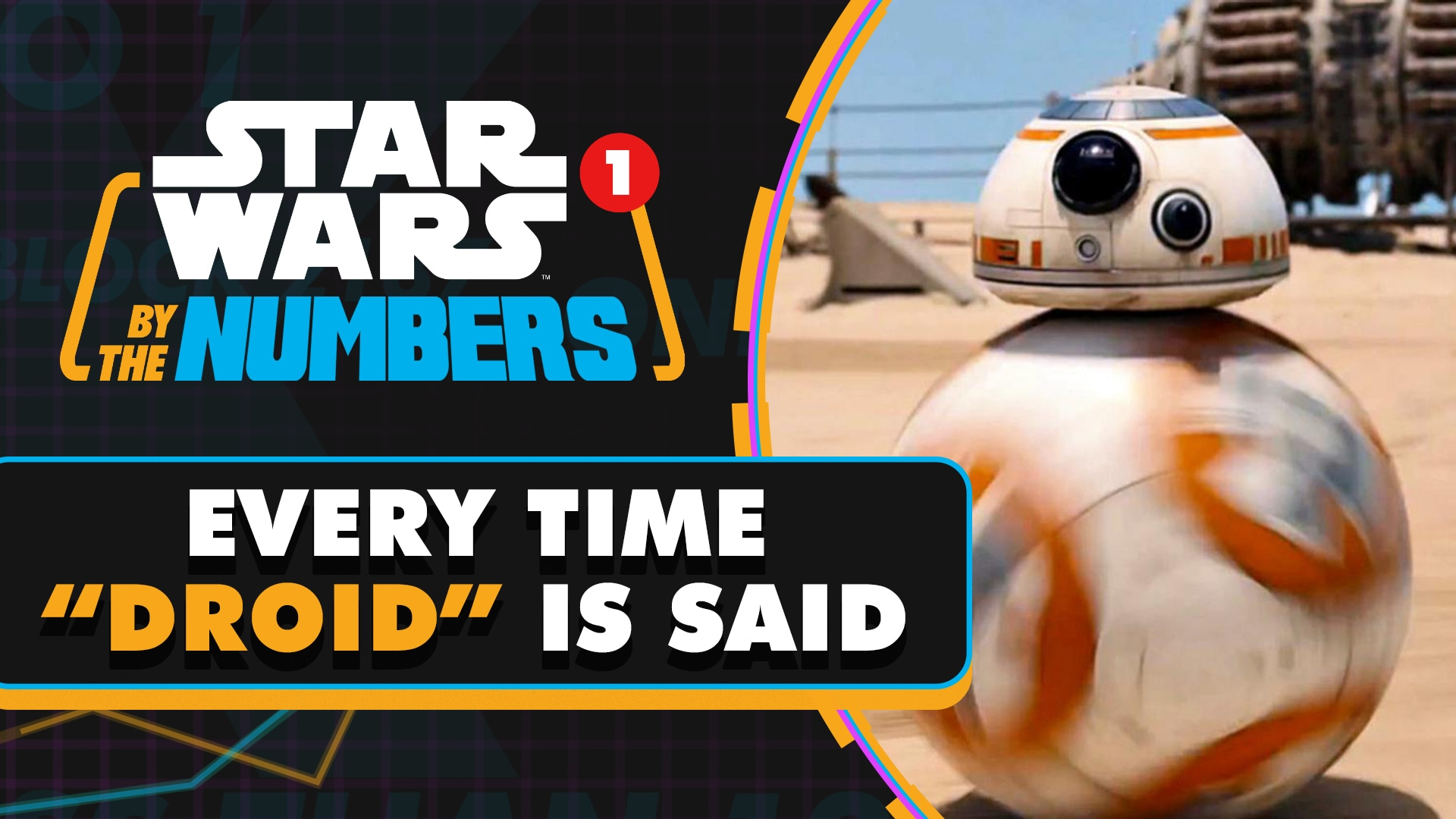 Every Time Droid is Said in Star Wars Movies | Star Wars By the Numbers
