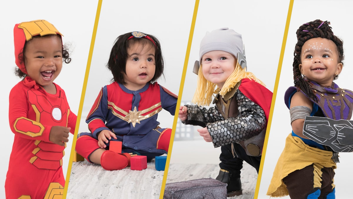 Babies Dressed as Marvel Studios Characters | Disney Family