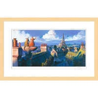 Image of ''Remy and Emile, Paris Morning'' Ratatouille Framed Giclée on Paper by Dominique R. Louis - Limited Edition # 1