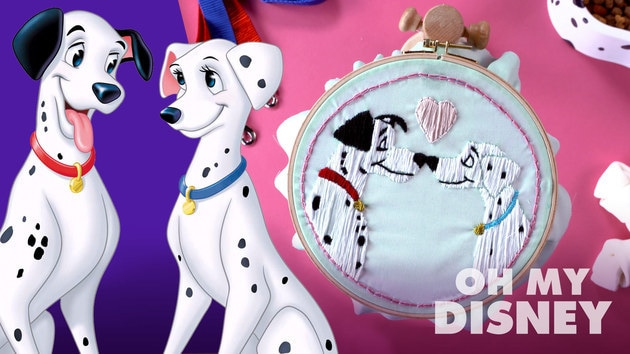 101 Dalmatians Pongo and Perdita Embroidery | Sketchbook by Oh My Disney