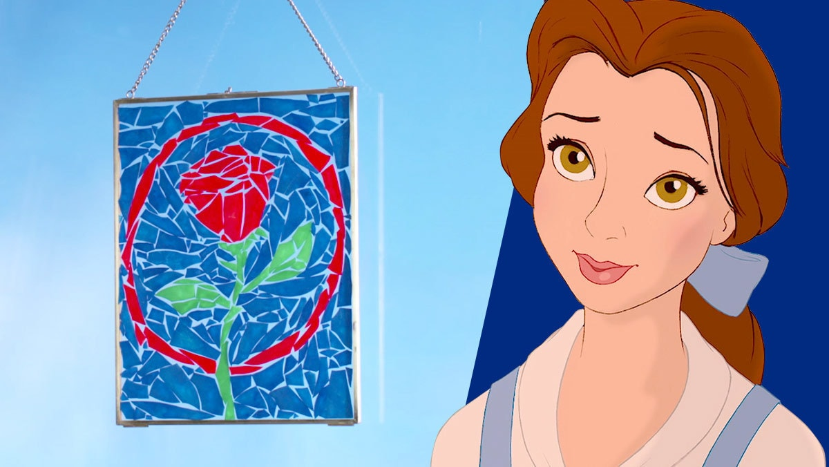 Beauty and the Beast Stained Glass Pasta Art | Disney DIY by Disney Family