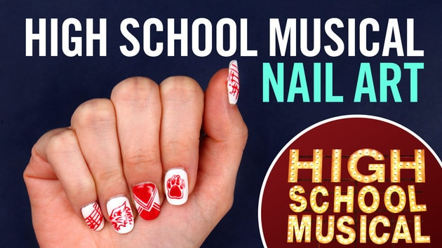 High School Musical Nail Art | Disney Style