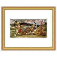 Image of Mickey Mouse and Friends ''On the 18th Green'' Giclée by Darren Wilson # 4