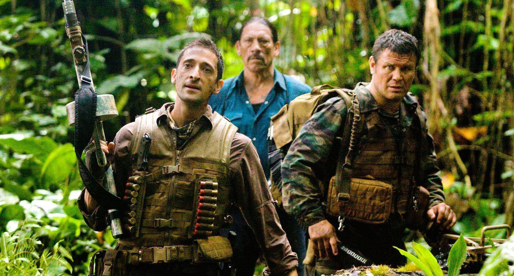 Danny Trejo (as Cuchillo), Adrien Brody (as Royce),  and Oleg Taktarov (as Nikolai) in Predators