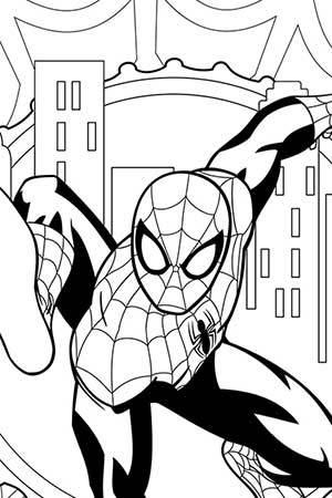Ultimate spider man coloring page