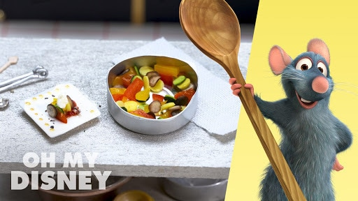 Tiny Food - Remy's Ratatouille | Sketchbook by Oh My Disney