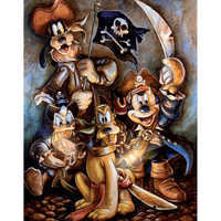 Image of Mickey Mouse and Friends ''Motley Crew'' Giclée by Darren Wilson # 1