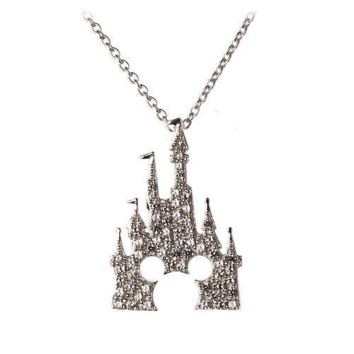 Mickey Mouse Castle Necklace By Rebecca Hook Silver