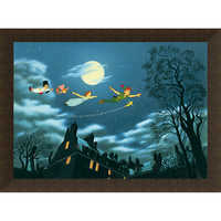 Image of Peter Pan ''And Away They Flew to Never Land'' Giclé # 10