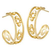 Image of Mickey Mouse Hoop Earrings - 18K # 2