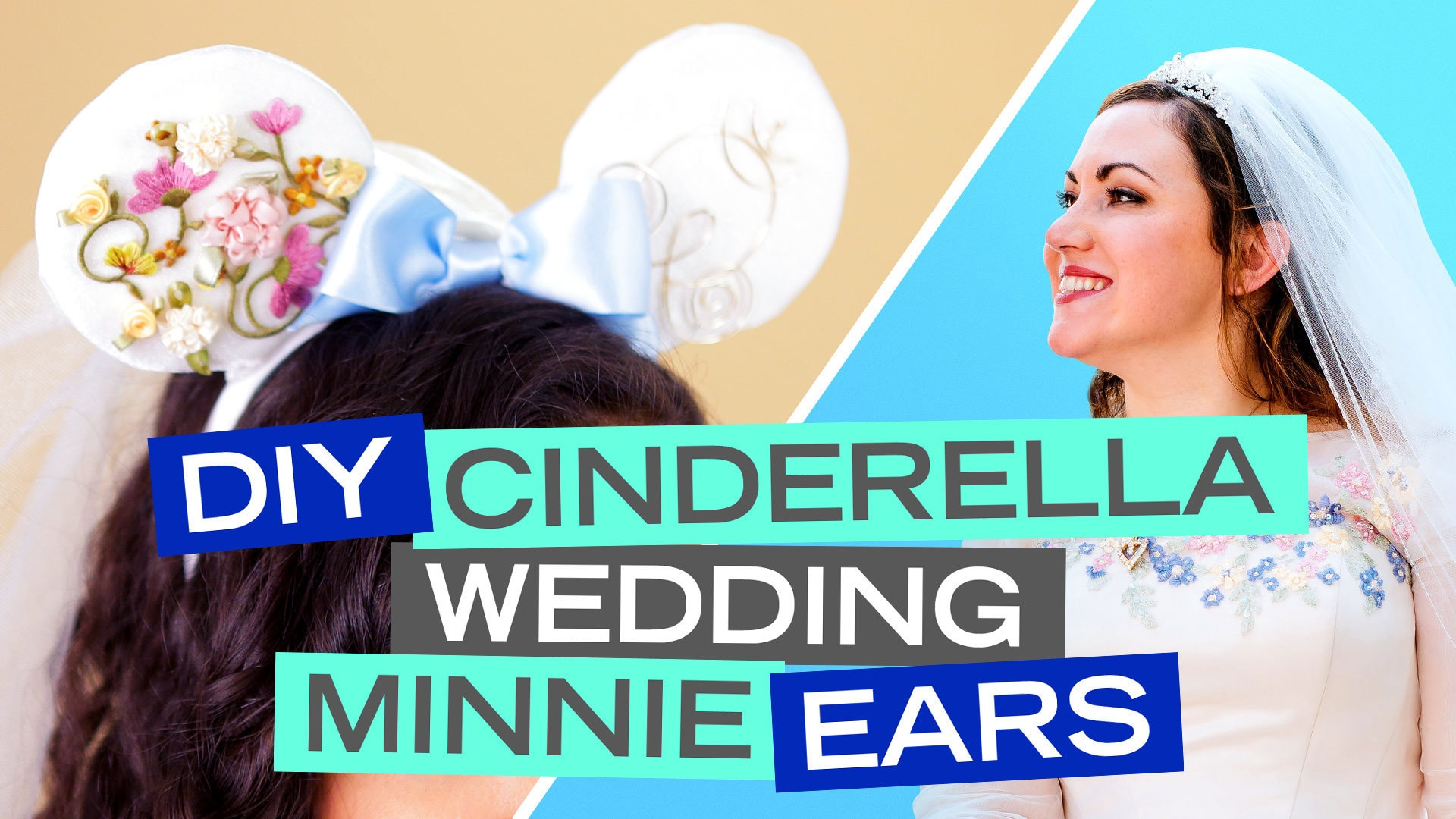 DIY: Cinderella Wedding Minnie Ears