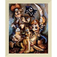 Image of Mickey Mouse and Friends ''Motley Crew'' Giclée by Darren Wilson # 9