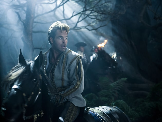 "Chris Pine stars as Cinderella's Prince in ""Into the Woods,"" a modern twist on beloved fairy tale..."