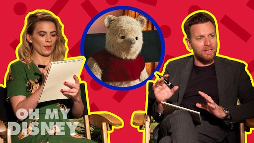Ewan McGregor and Hayley Atwell Draw Characters From Disney's Christopher Robin | by Oh My Disney