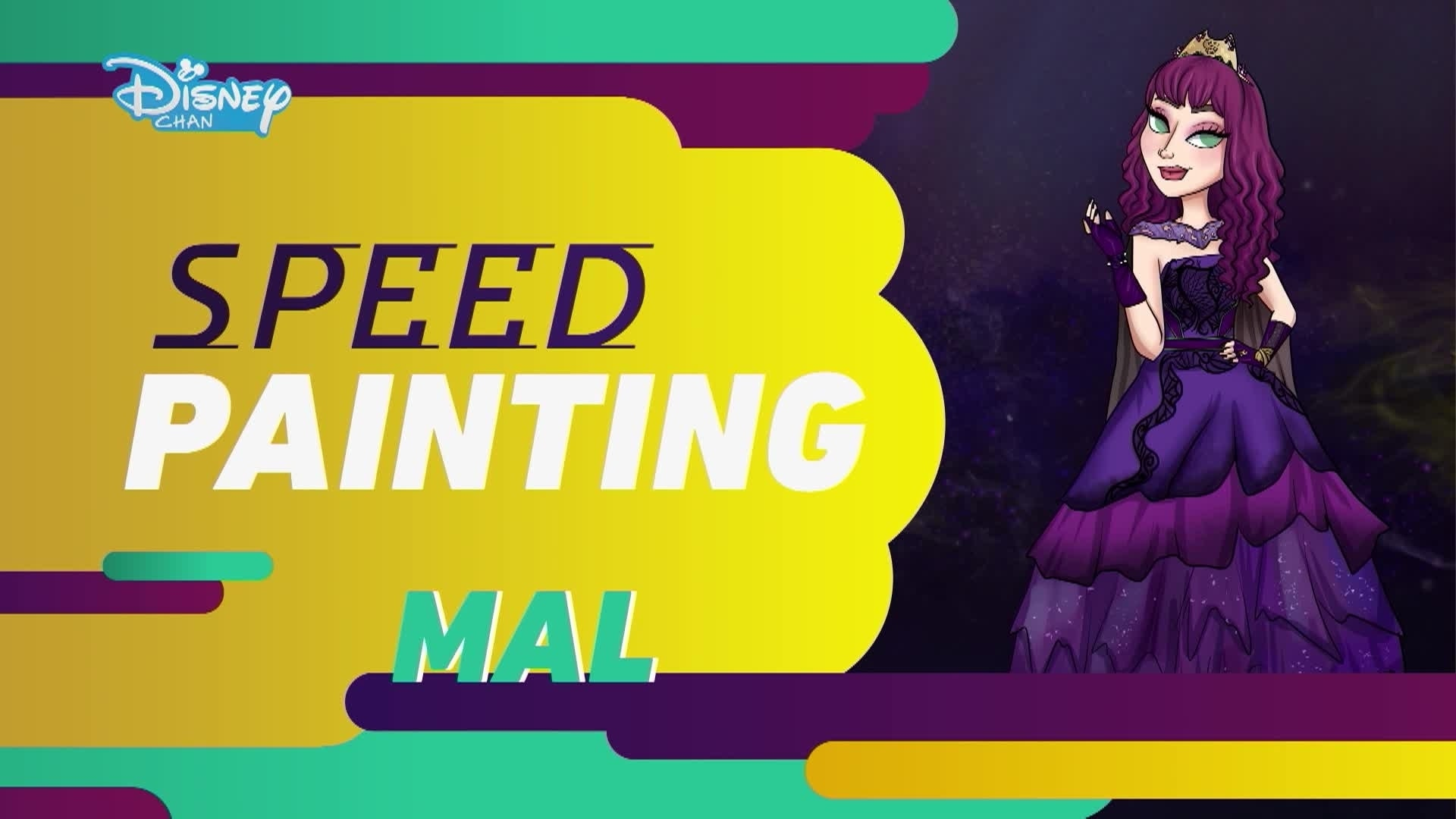 Os Descendentes 2:  Speed Painting - Mal no Baile