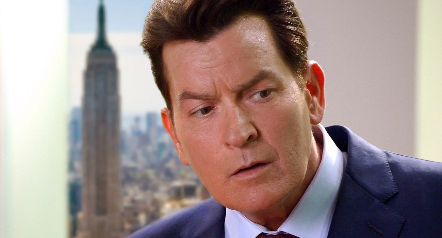 "Actor Charlie Sheen (Jeffery Cage) in the film ""9/11"""