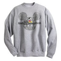 Mickey Mouse with Walt Disney World Logo Sweatshirt for Adults - Gray