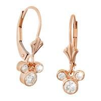 Mickey Mouse Fleur-de-Lis Earrings - Gold
