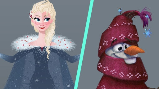 "Costume Details of ""Olaf's Frozen Adventure"""