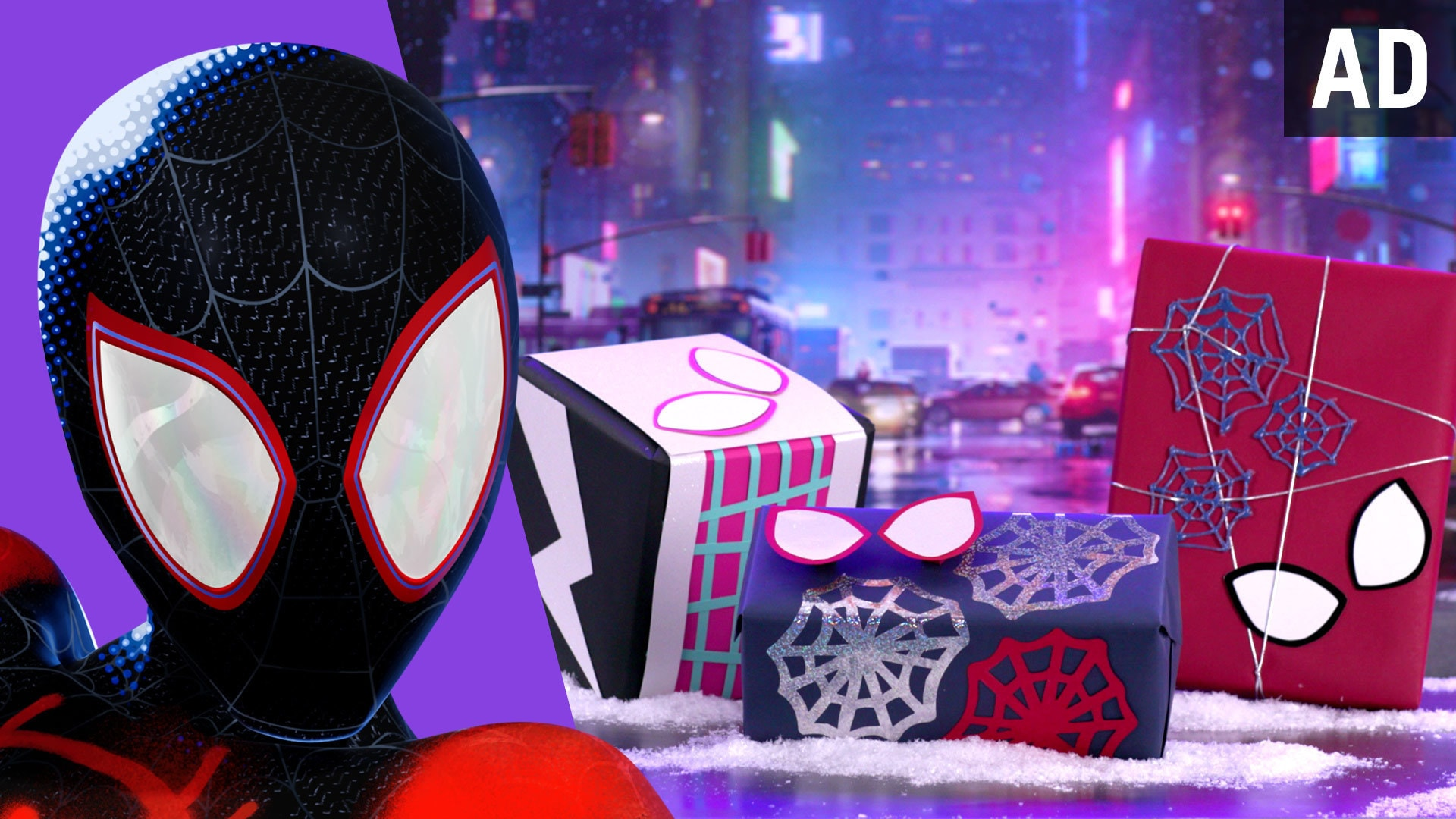 DIY Gift Wrapping Paper Inspired by Spider-Man: Into the Spider-Verse | Disney DIY by Disney Family