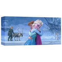 Frozen ''The Warmth of Love'' Giclée on Canvas by Jim Salvati