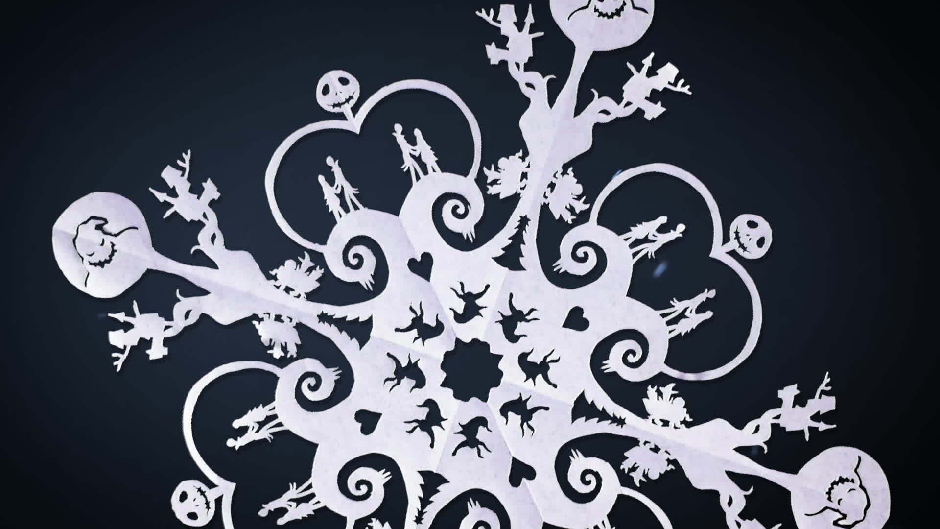 The Nightmare Before Christmas Snowflake Art | Oh My Disney