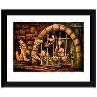 Image of Mickey Mouse Pirates of the Caribbean ''Here Poochie'' Giclée by Darren Wilson # 2