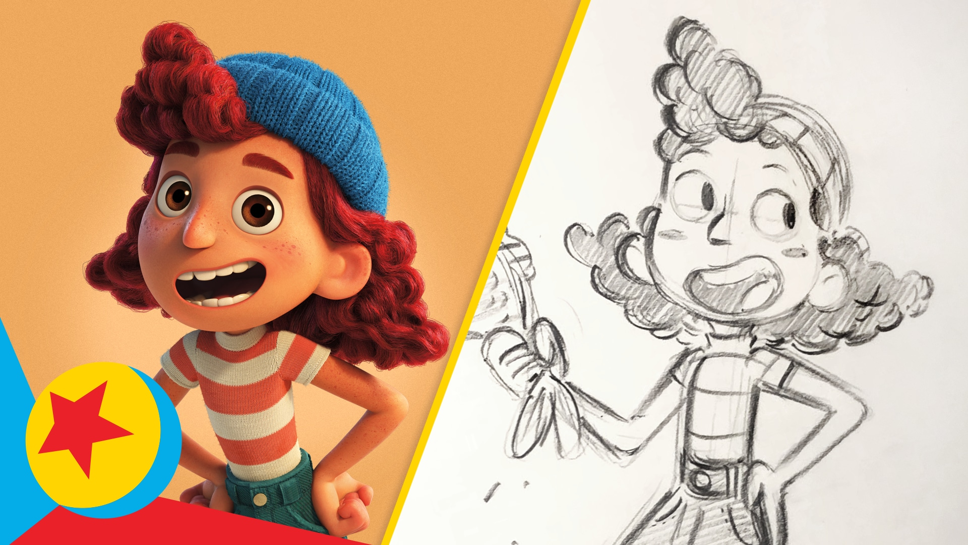 How to Draw Guilia from Luca | Draw With Pixar | Pixar
