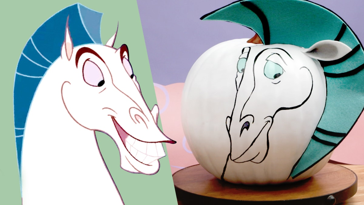 Halloween Pumpkin Painting: Pegasus from Hercules | Disney DIY by Disney Family
