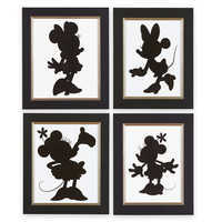 Image of Minnie Mouse Silhouette Prints by Ethan Allen # 1
