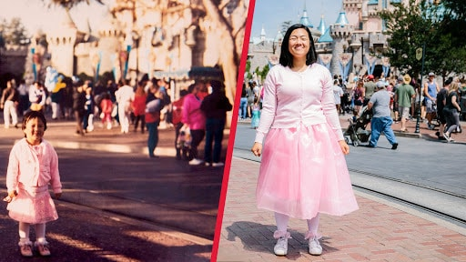 Recreating Childhood Disney Photos for Mother's Day